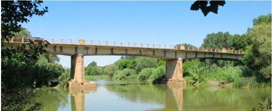 Imagen de parte central de la estructura de puente