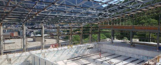 Estado actual de las obras del centro deportivo Serradells