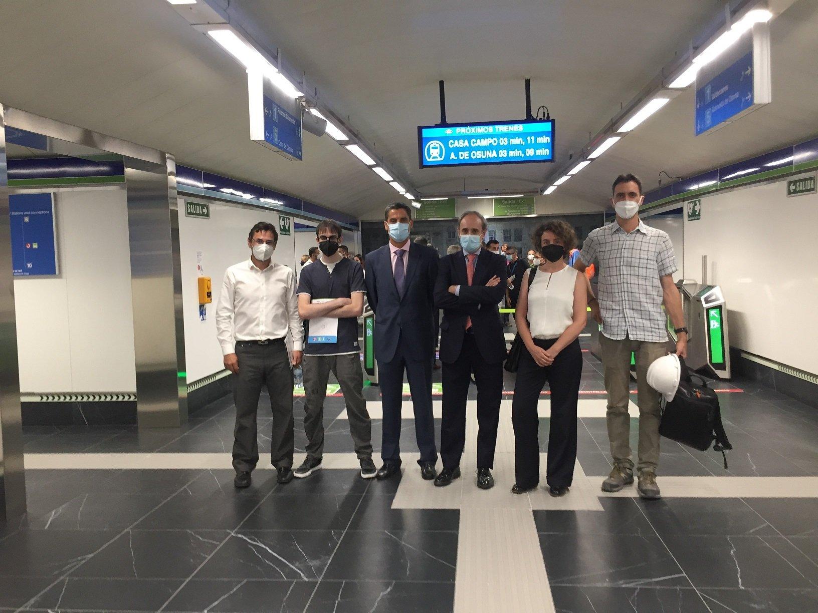 Equipo BAC Madrid. Staff directivo y equipo de control de la obra de la estación del metro