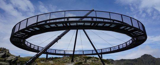 Resultado de la obra de construcción de la estructura del mirador - reloj solar de creussans